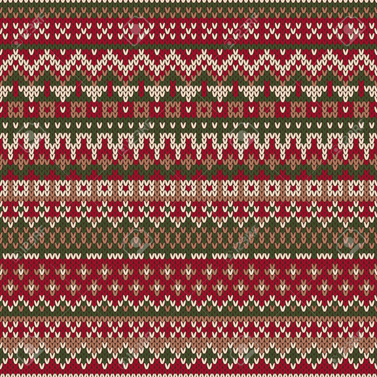 3a97a5e771ea Christmas Sweater Design. Seamless Knitted Pattern In Traditional ...