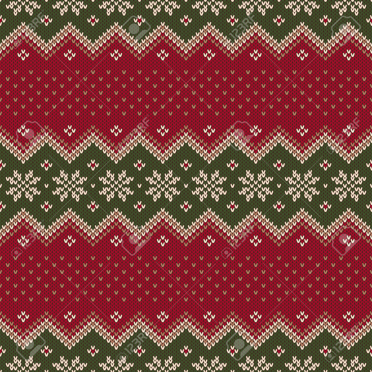 Christmas Sweater Pattern.Traditional Christmas Sweater Design Seamless Pattern