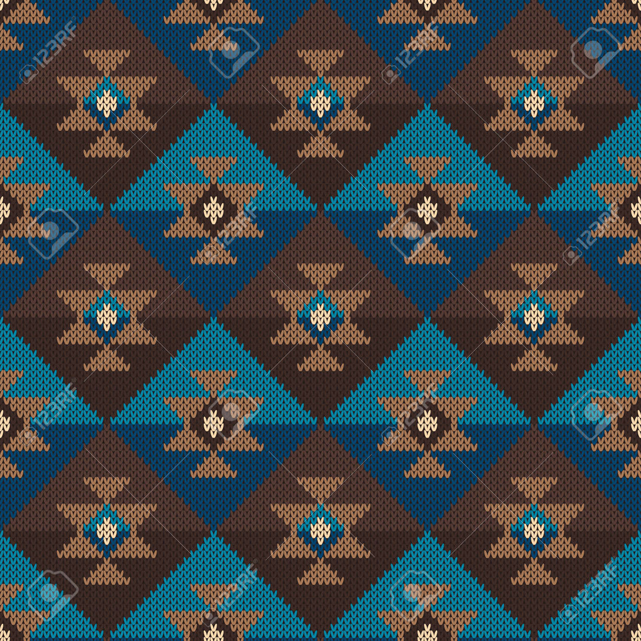 Traditional Tribal Aztec Pattern. Seamless Knitting Ornament Royalty ...