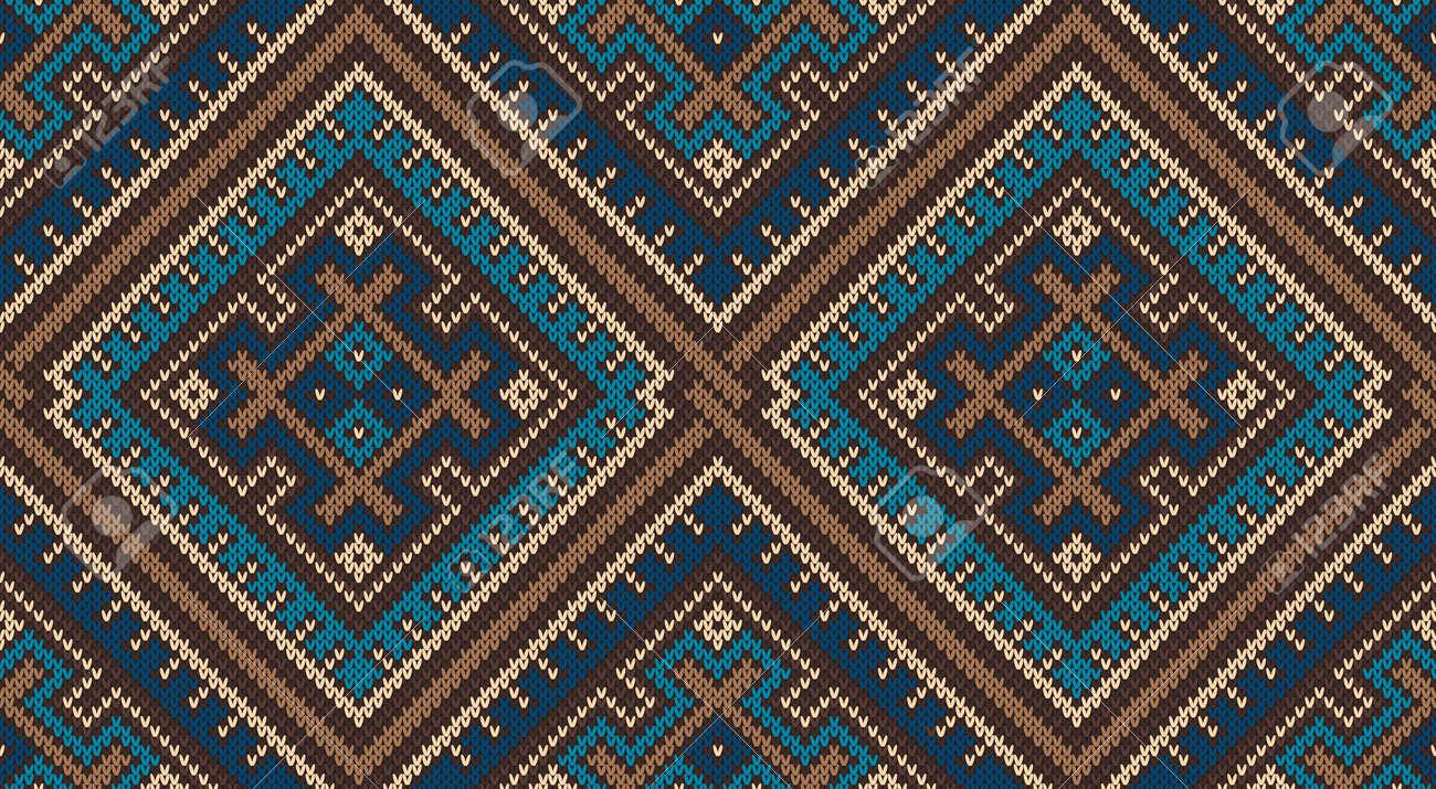 Tribal Aztec Pattern. Seamless Knitting Ornament Royalty Free ...