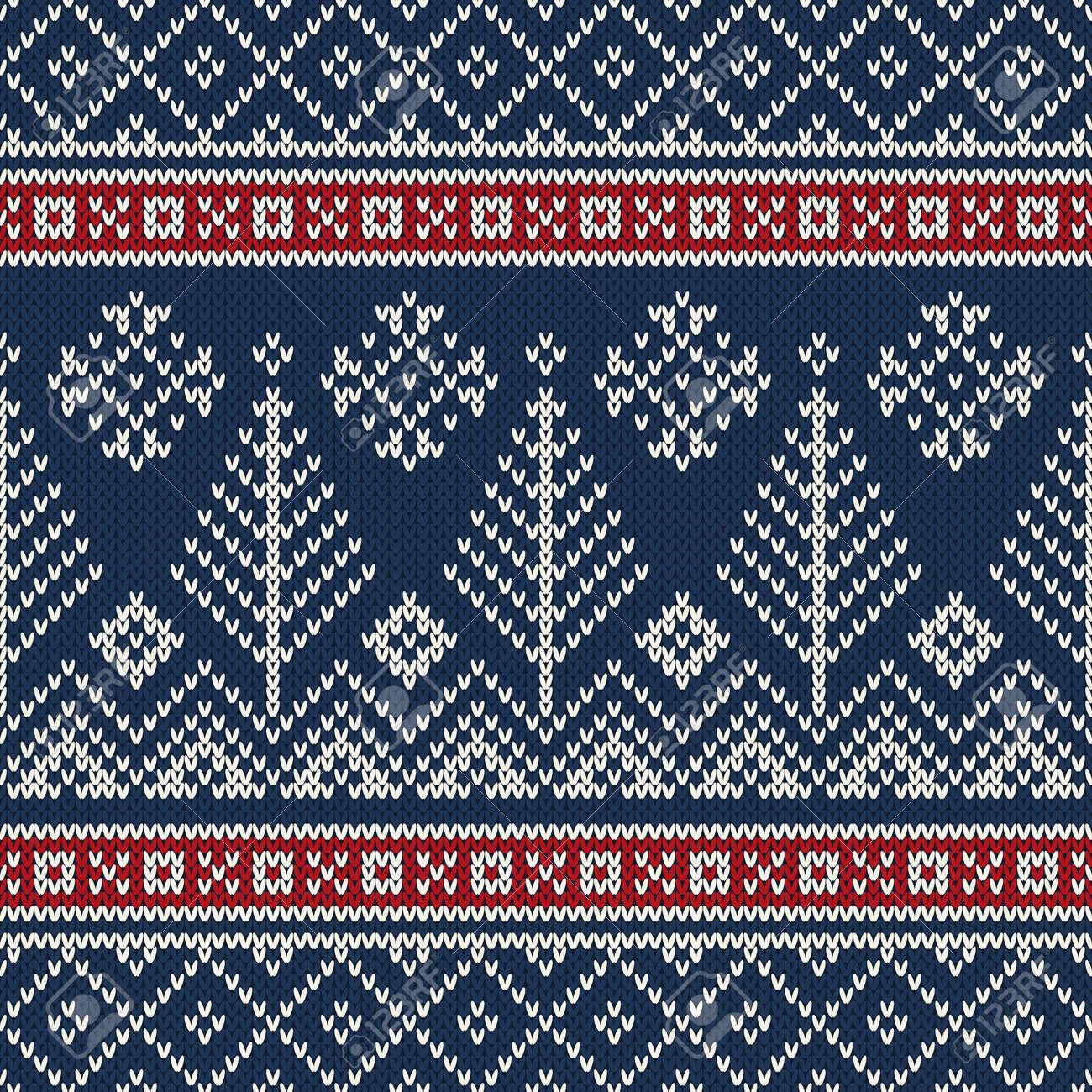 e11679961088 Christmas Sweater Design. Seamless Knitting Pattern Stock Vector - 45142554
