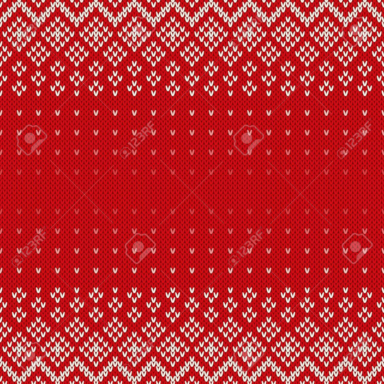 fair isle art nahtloses gestricktes muster weihnachtshintergrund mit platz fr text standard bild - Fair Isle Muster