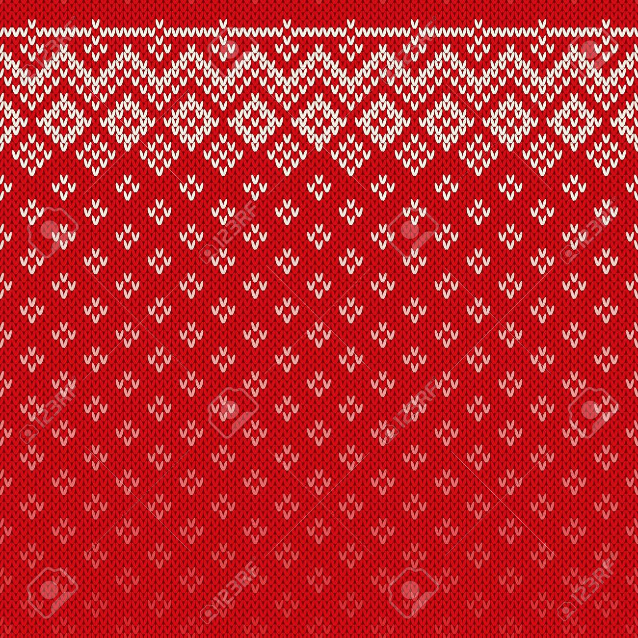 e5e6153e4223 Christmas Sweater Design. Seamless Knitting Pattern Royalty Free ...