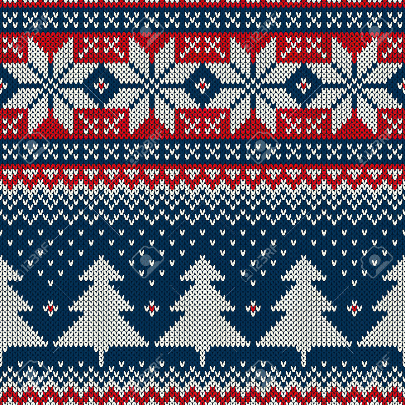 3eba4888db61 Christmas Sweater Design. Seamless Knitted Pattern Royalty Free ...