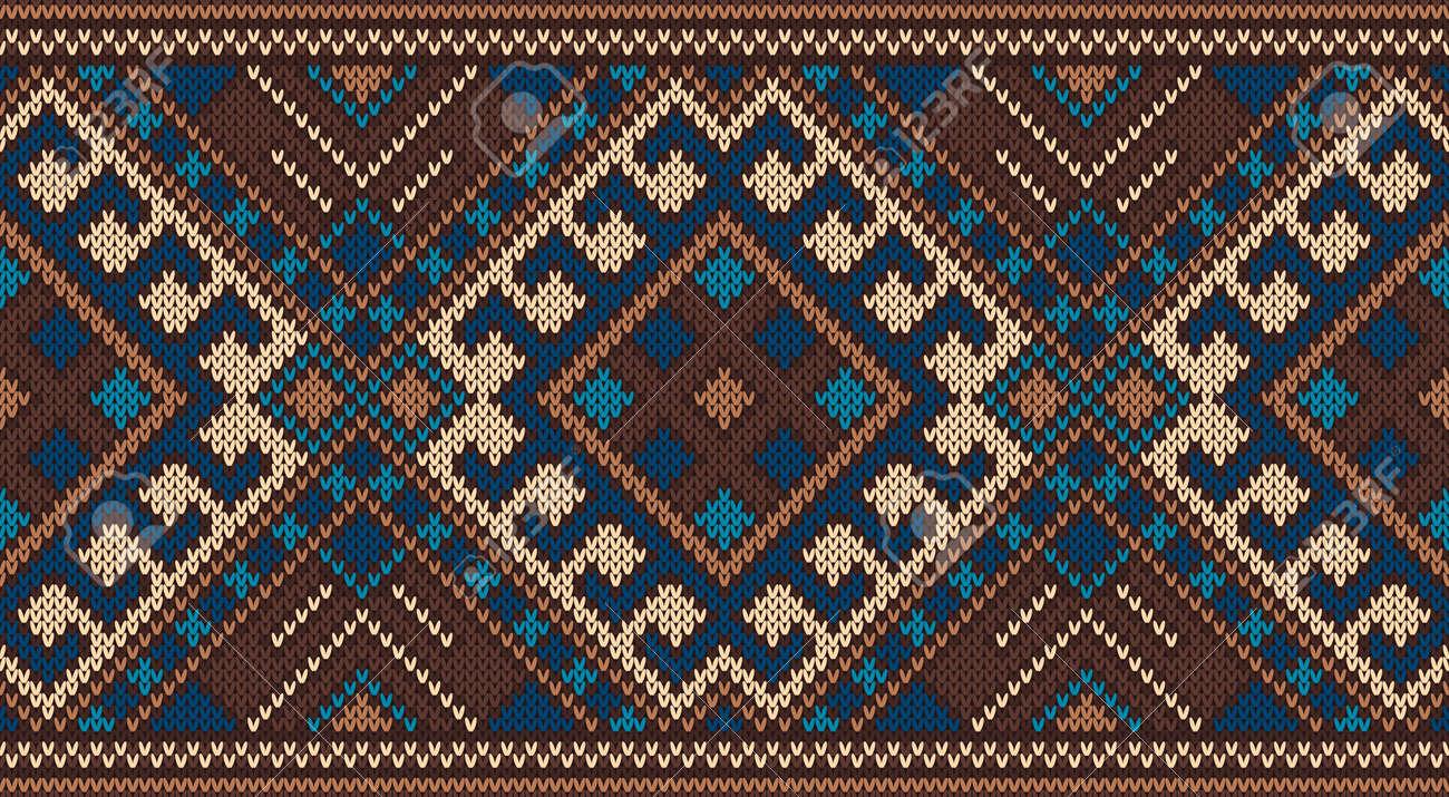 Modelo Tribal Azteca Tradicional Sin Fisuras En La Textura De Punto ...