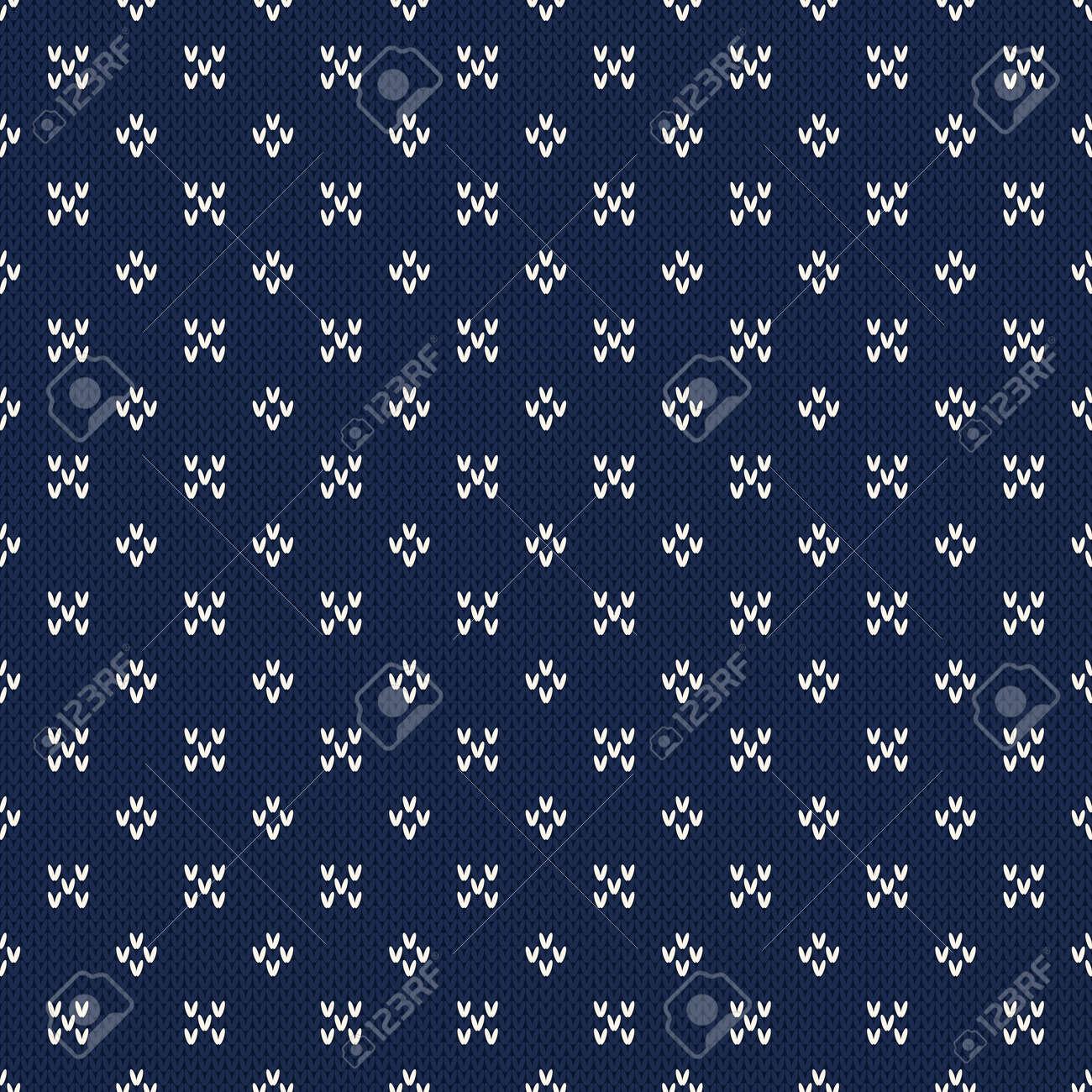 Patrón Sin Fisuras De Tejer. Diseño Suéter Tejido Jacquard Con ...