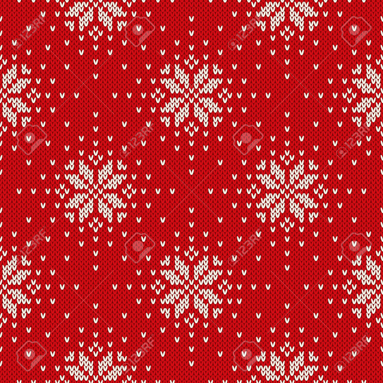 Winter Holiday Knitted Pattern With Snowflakes. Seamless Vector ...
