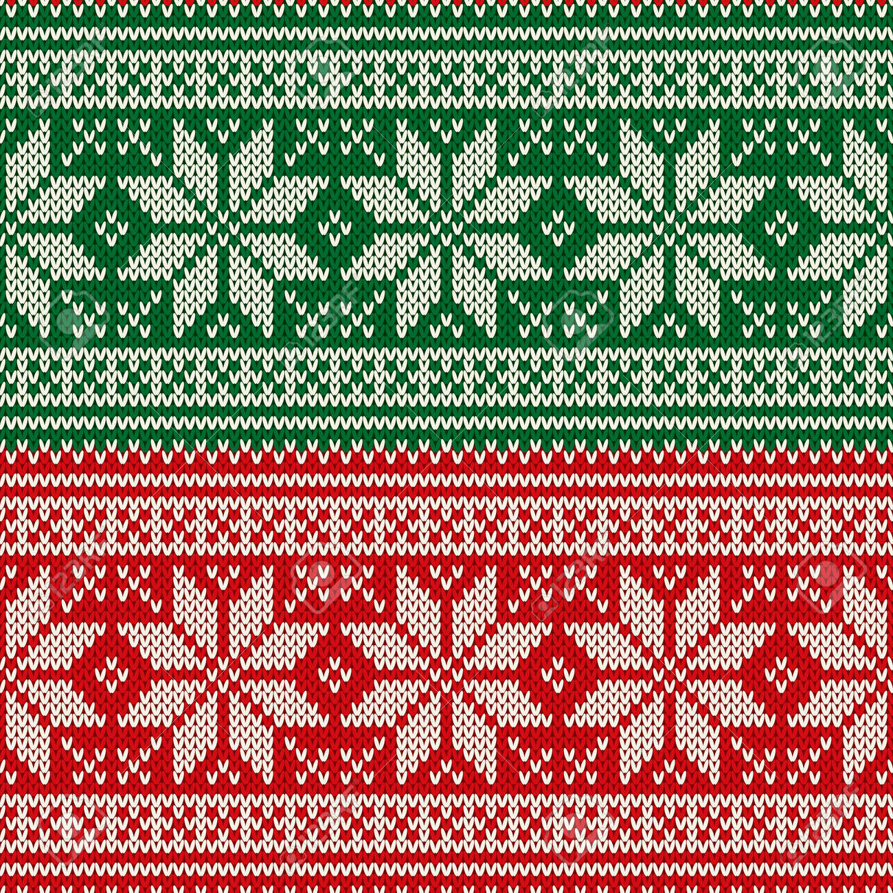 Traditional Christmas Seamless Knitted Pattern With Snowflakes ...