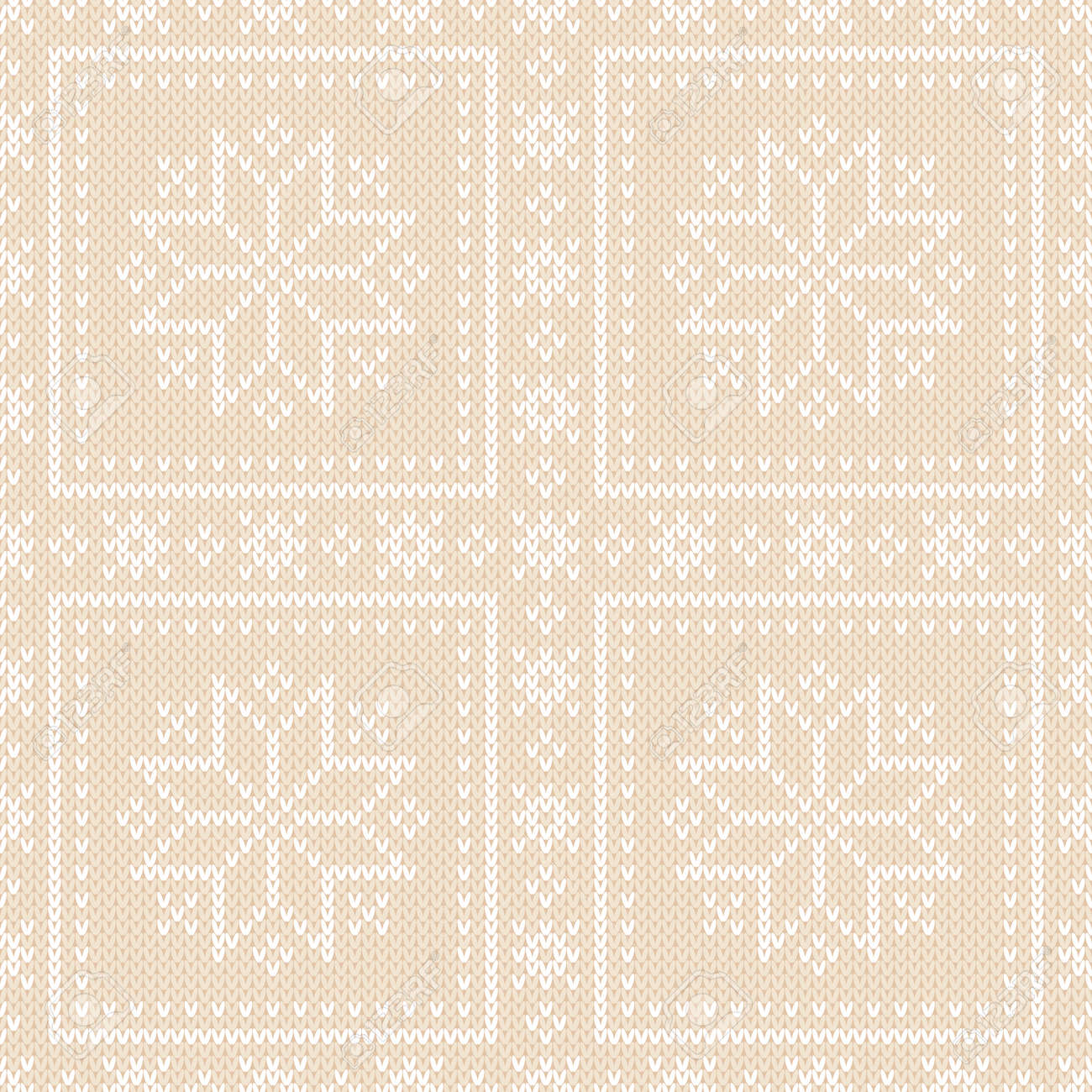 Winter Holiday Seamless Knitted Pattern With Snowflakes. Wool ...