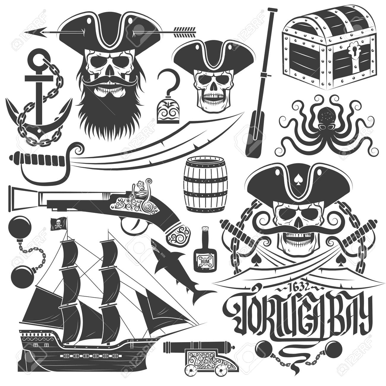 1 603 pirate logo stock vector illustration and royalty free