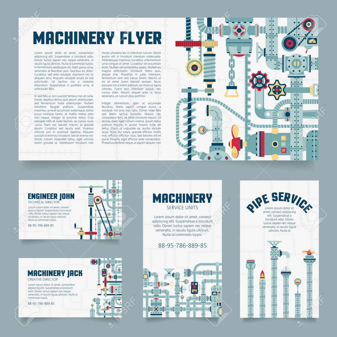 Carte De Visite Steampunk Mecanique Depliants Dingenierie Banque