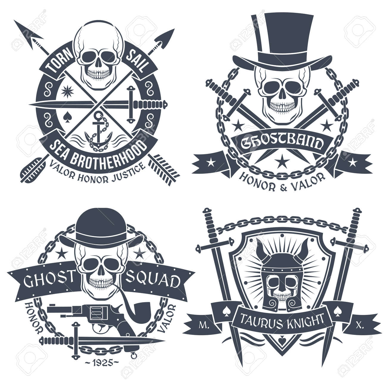 Vintage emblem with skull well suited as tattoos t shirt text vintage emblem with skull well suited as tattoos t shirt text is buycottarizona