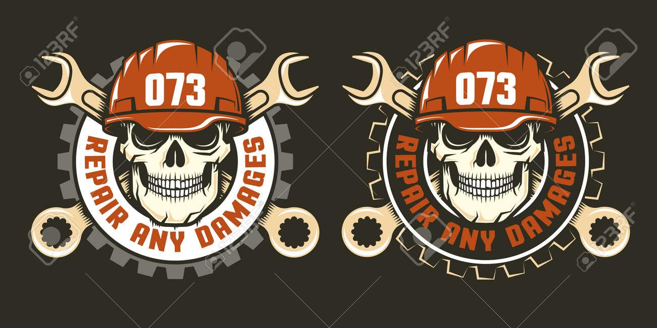 Plantilla De Logotipo De Servicio De Reparación - Calavera En Un ...
