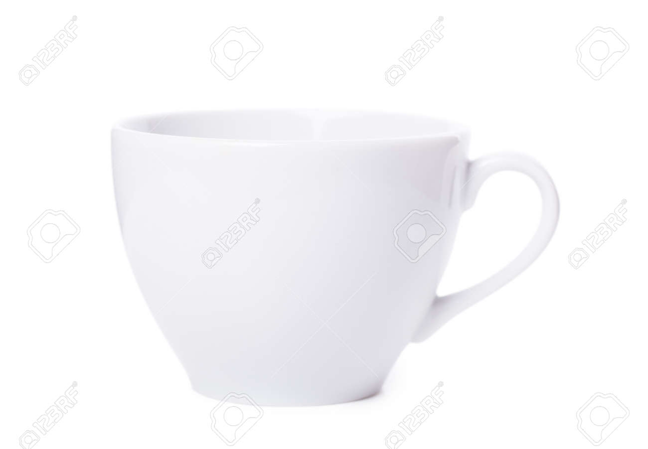 White cup over white background Stock Photo - 12978820
