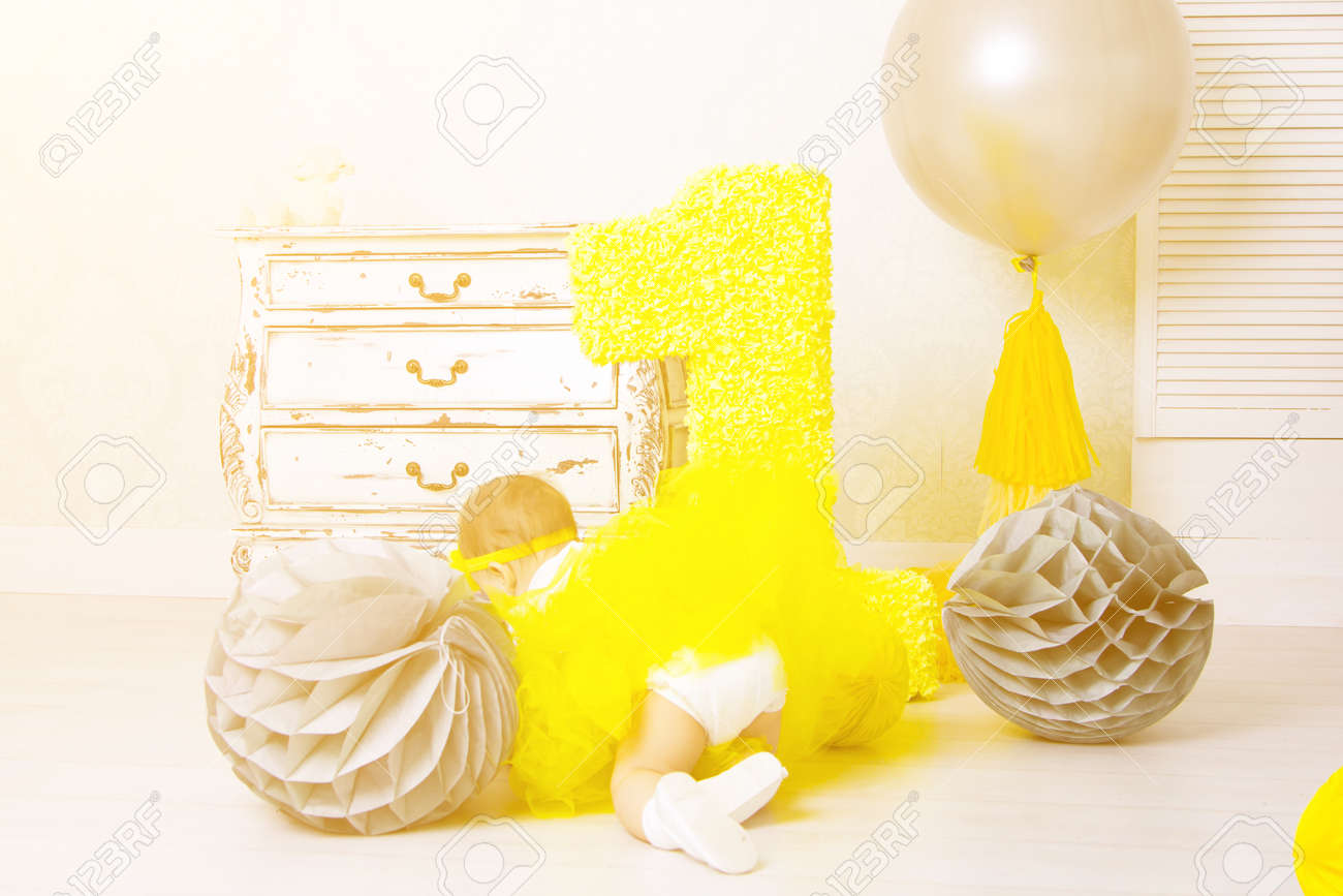 Decore Numero 1 Pour Un Anniversaire Joyeux Anniversaire Un An Et