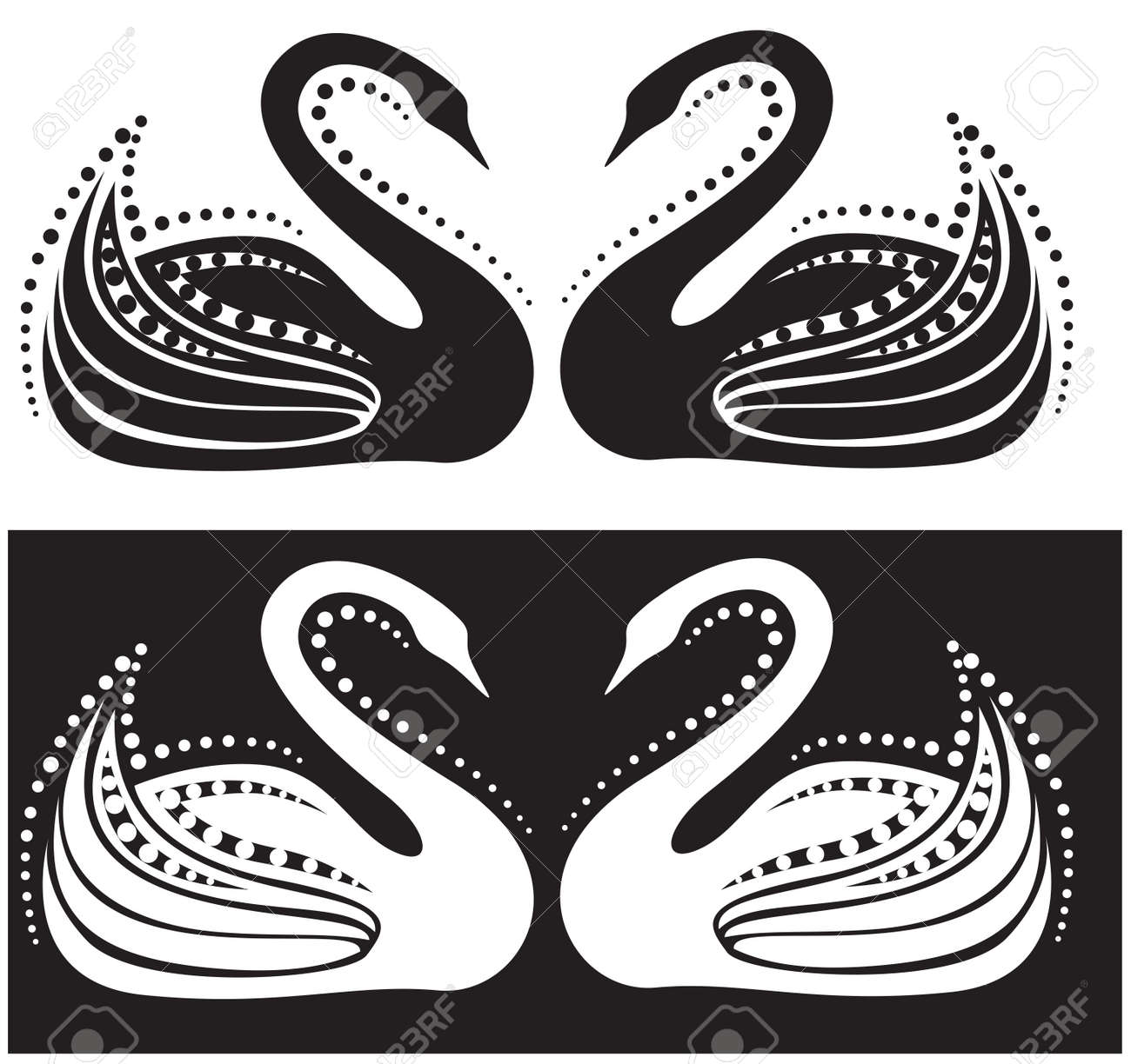 The stylized image of a pair of swans Stock Vector - 11085753