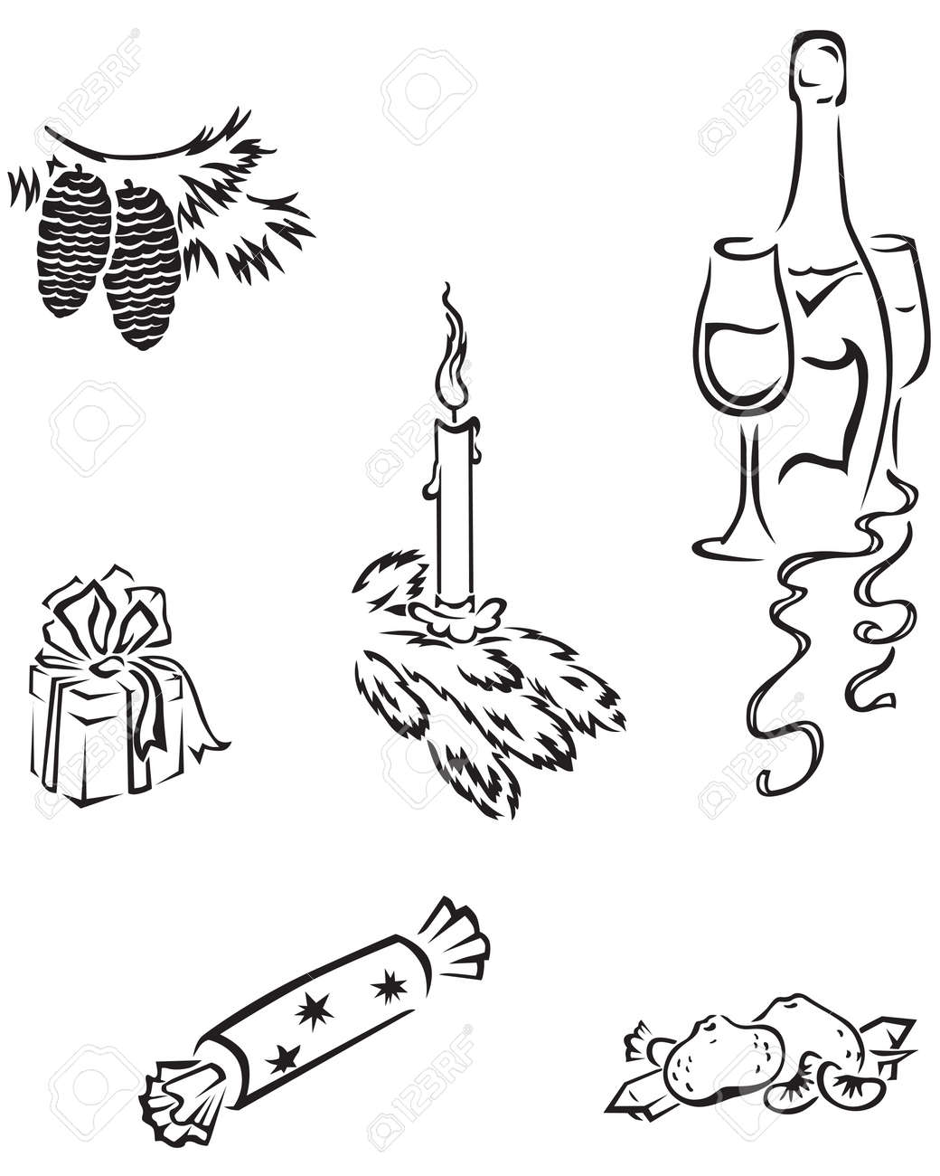A set of images for the New Year Stock Vector - 15635512
