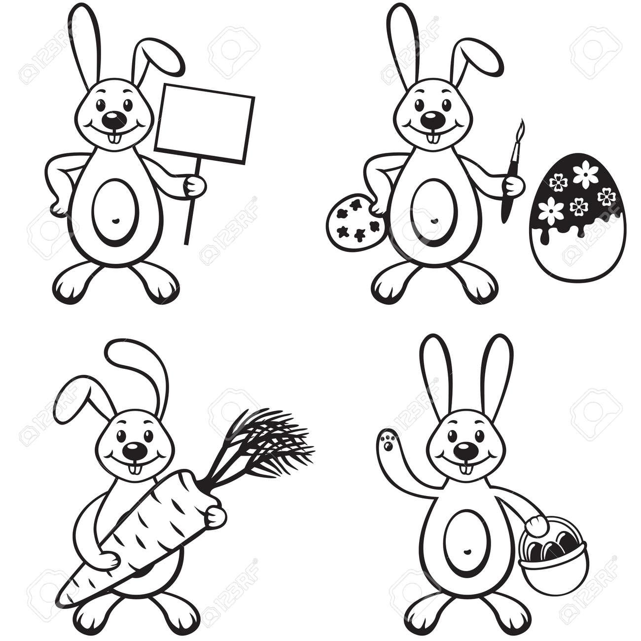 Set contour image of cartoon bunny Stock Vector - 18290074