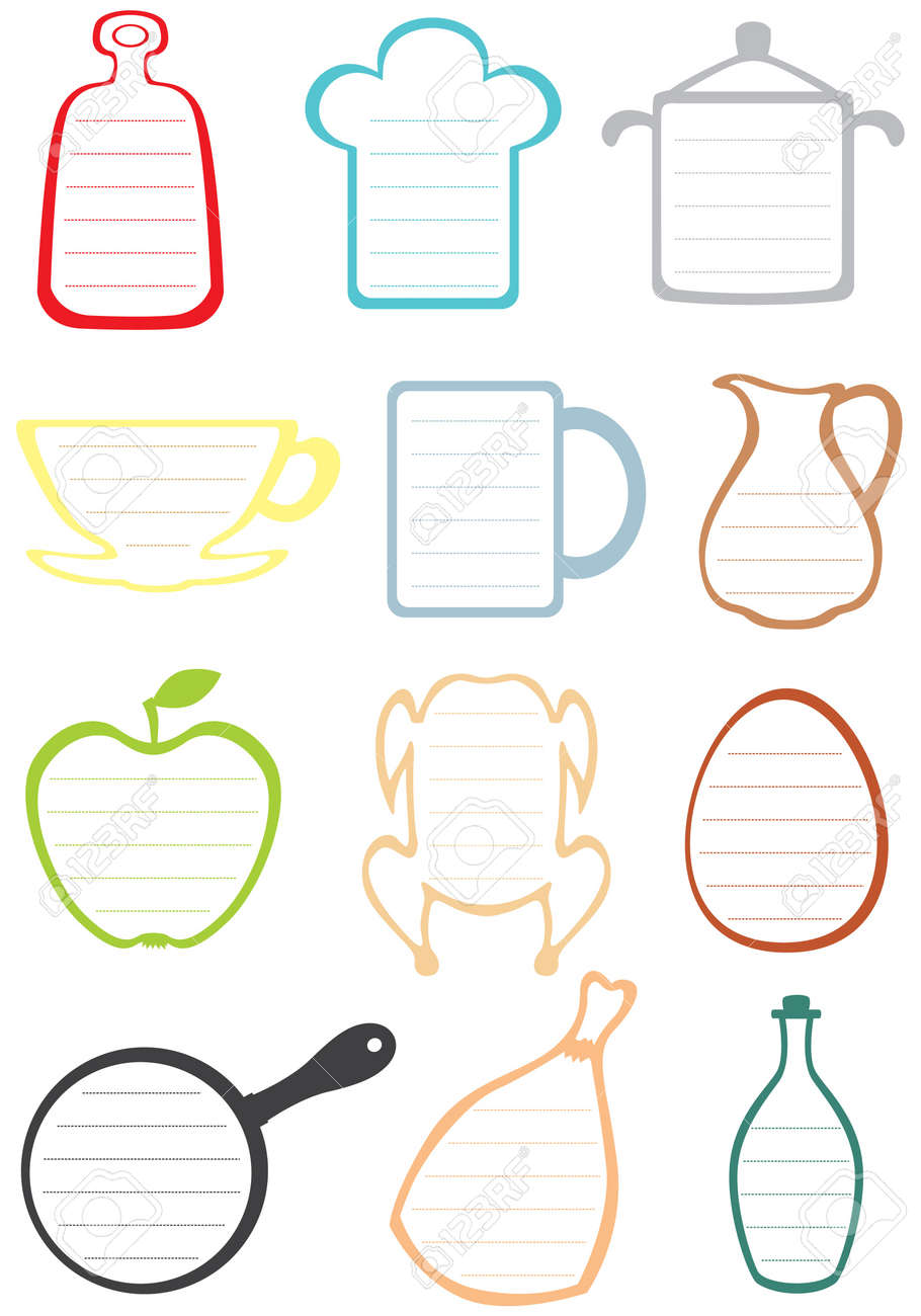 Frames With Rulers For Kitchen Notes And Recipes Royalty Free ...