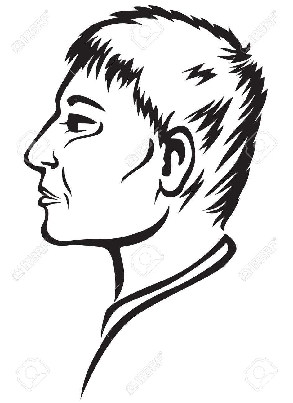 Contour image of a man Stock Vector - 18541777