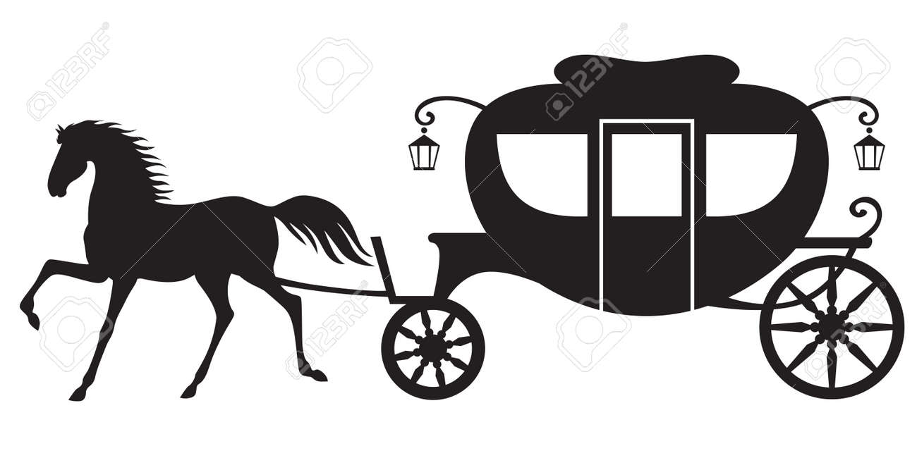 Horse Drawn Carriage Clipart Image Horse Drawn Carriage