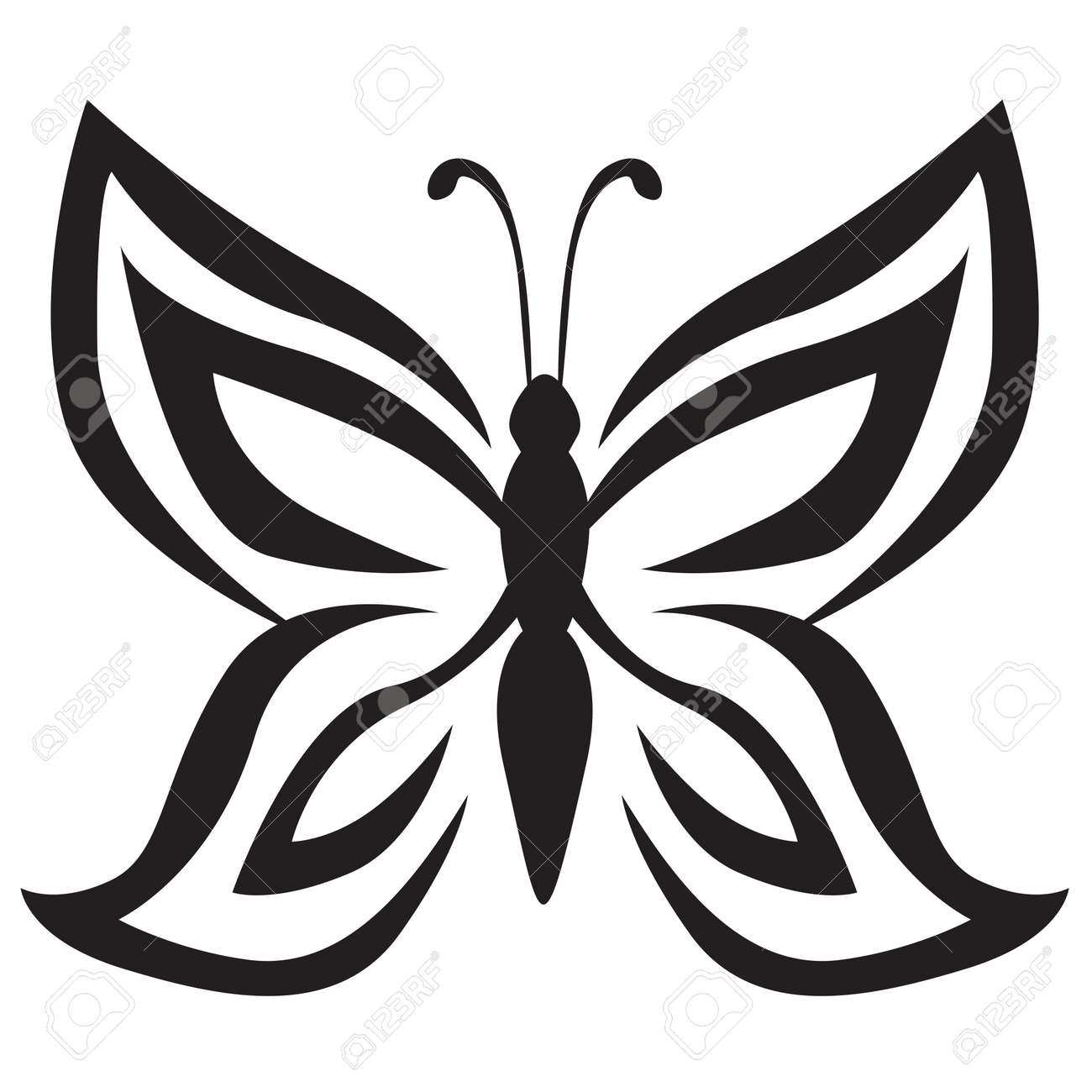 stylized image of butterfly icon royalty free cliparts vectors
