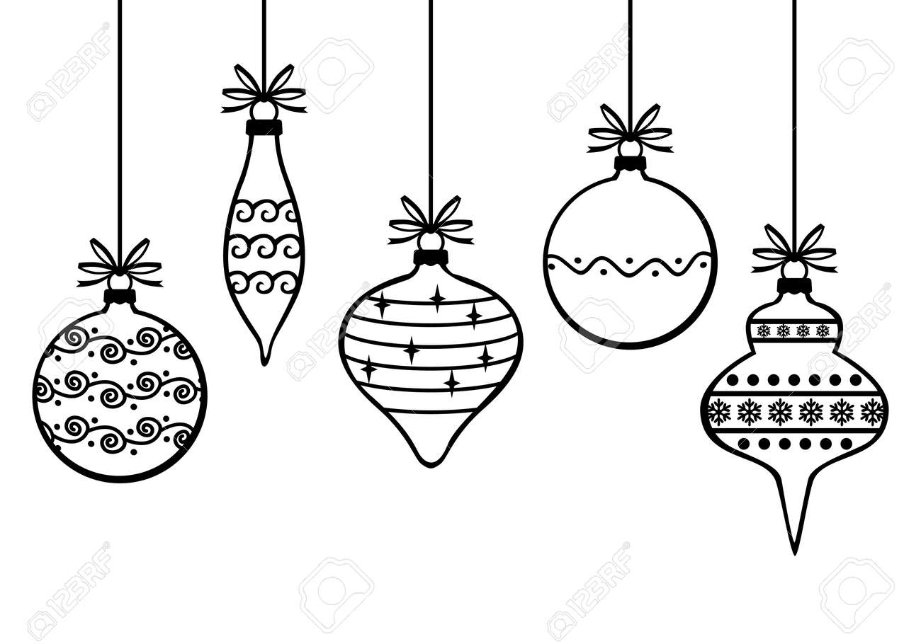 Vector Illustrations Of Christmas Greeting Card With Decorative
