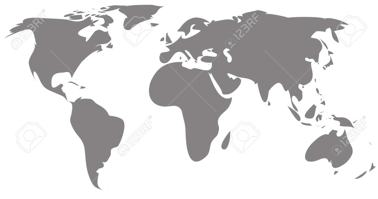 Gray world map silhouette royalty free cliparts vectors and stock gray world map silhouette stock vector 60963699 gumiabroncs Image collections