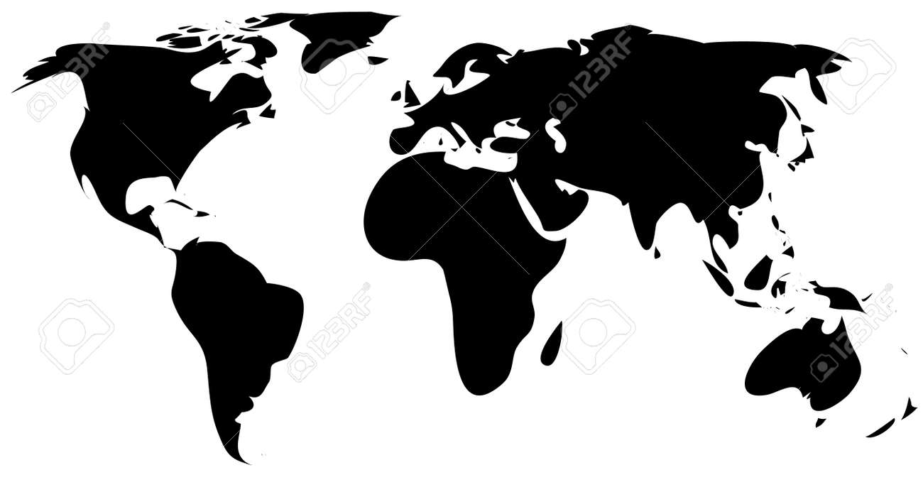 Simple world map royalty free cliparts vectors and stock simple world map gumiabroncs Gallery