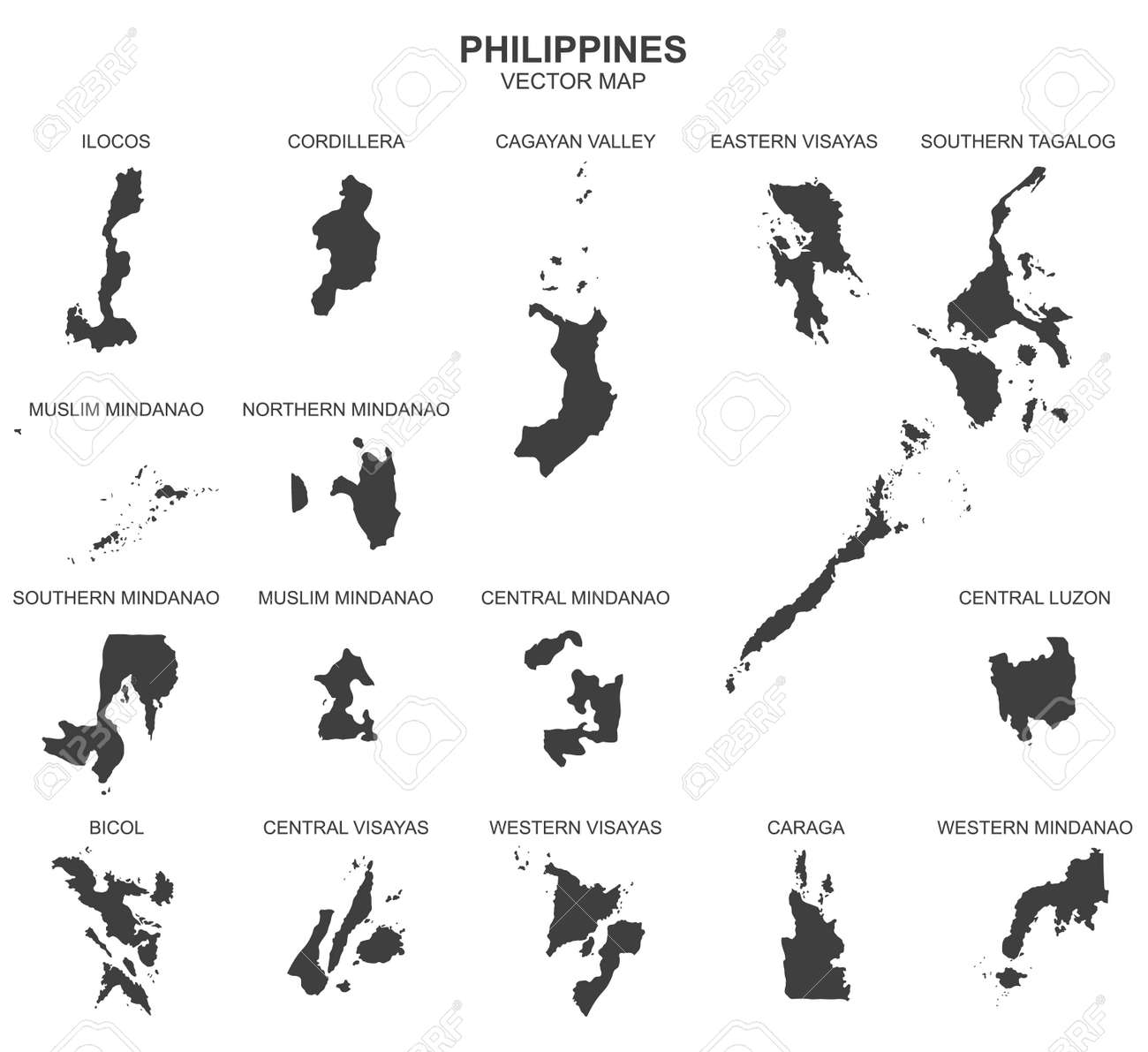 Political map of Philippines isolated on white background - 139401924