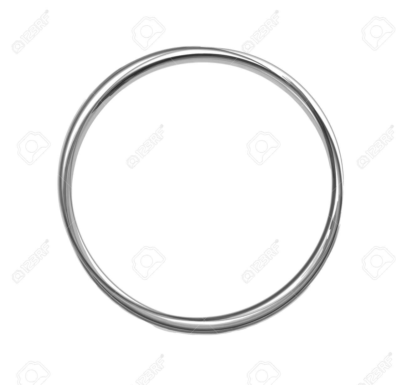 Brush round frame on white background - 150368755