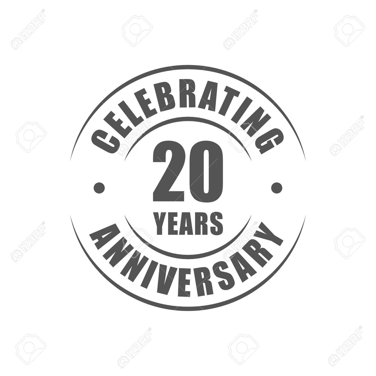 20 years celebrating anniversary logo royalty free cliparts vectors 20 years celebrating anniversary logo stock vector 64660662 altavistaventures Image collections