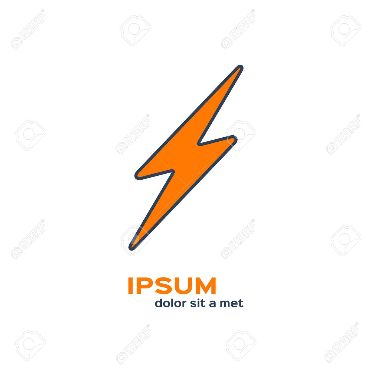 Flash Symbol. Electric Energy Power Logo. Lightning Icon Royalty ...