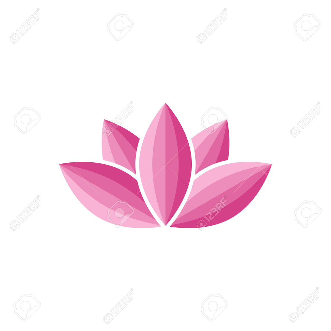 Lotus Flower Abstract Water Lily Silhouette Royalty Free Cliparts