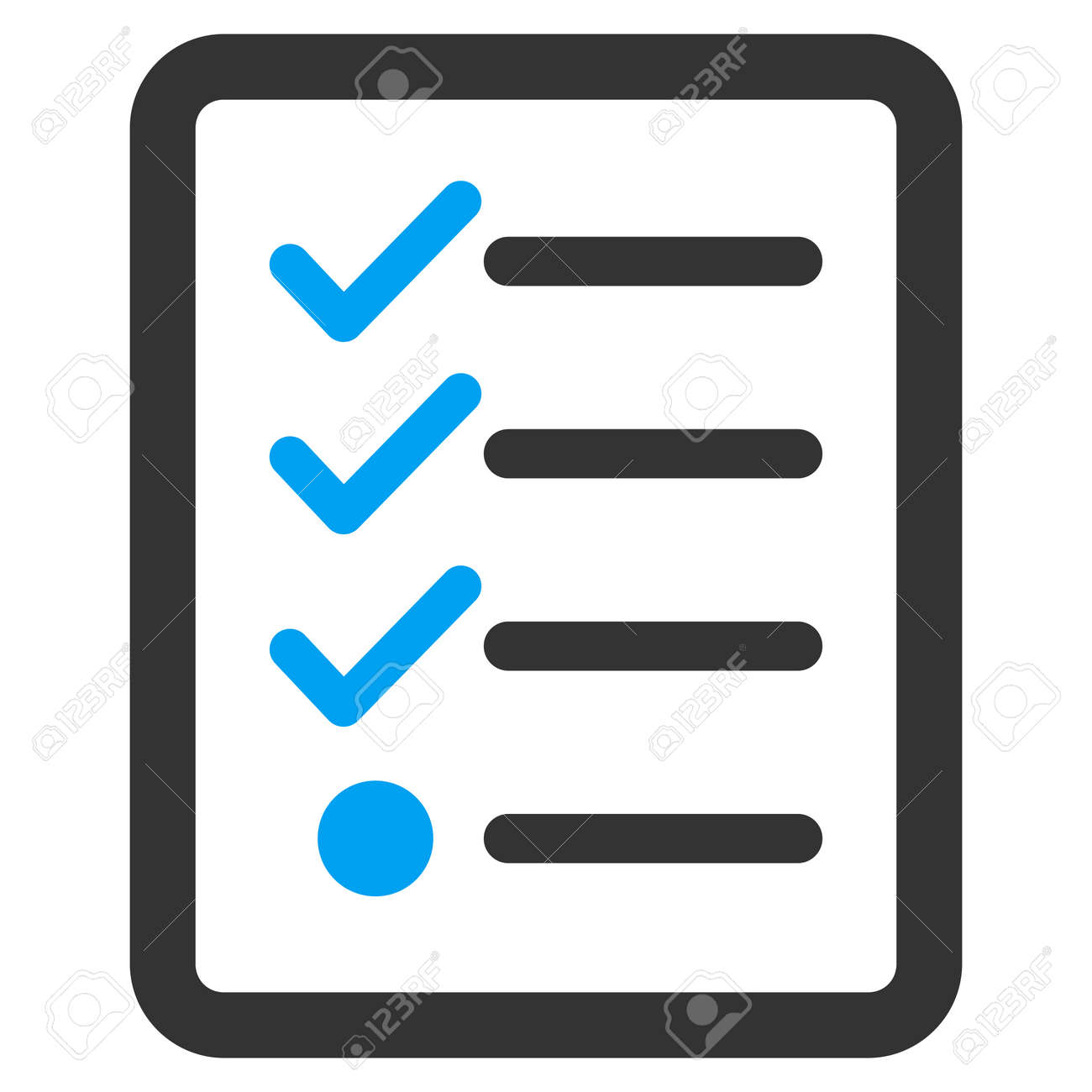 checklist icon from business bicolor set vector style is bicolor