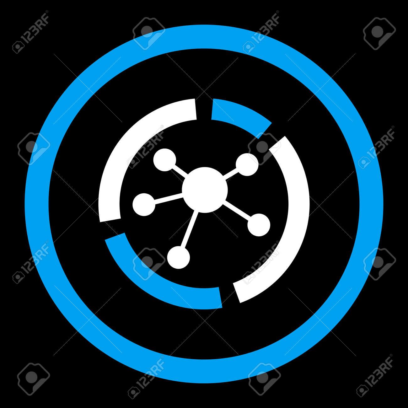 Verbindungsdiagramm-Glyphikone. Dieses Abgerundete Flache Symbol ...