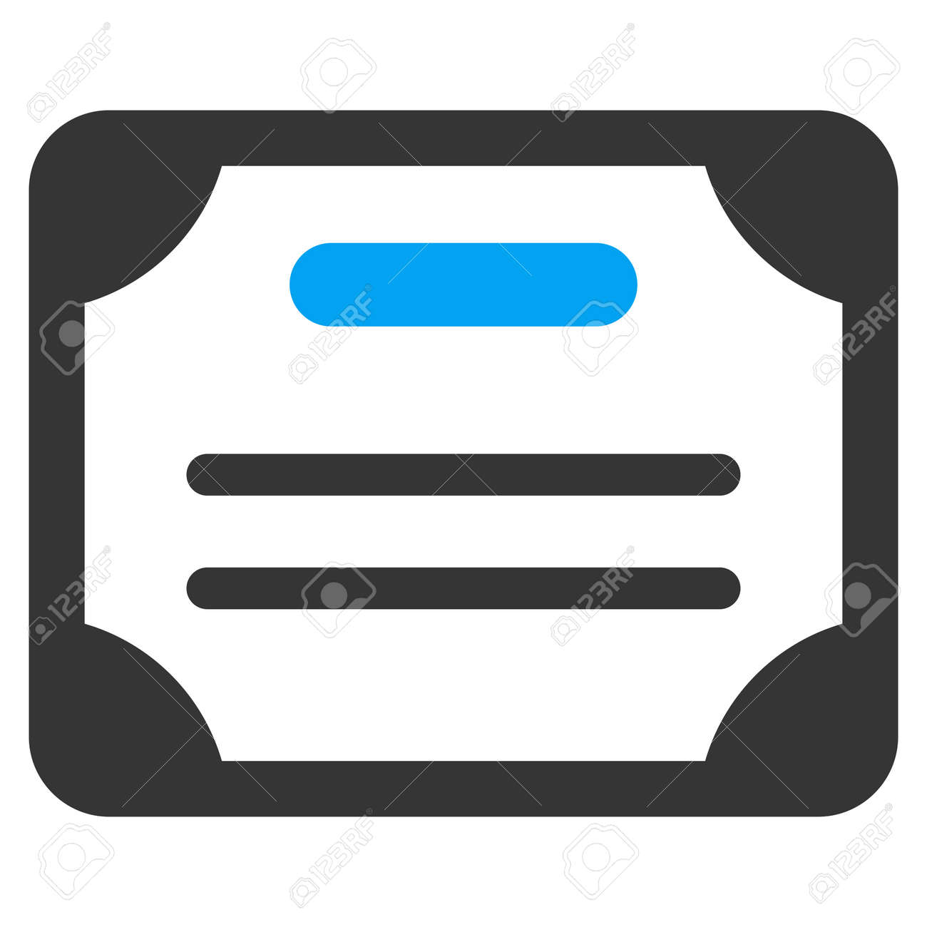 certificate vector icon style is bicolor flat symbol blue and rh 123rf com certificate vector border certificate vector templates ai