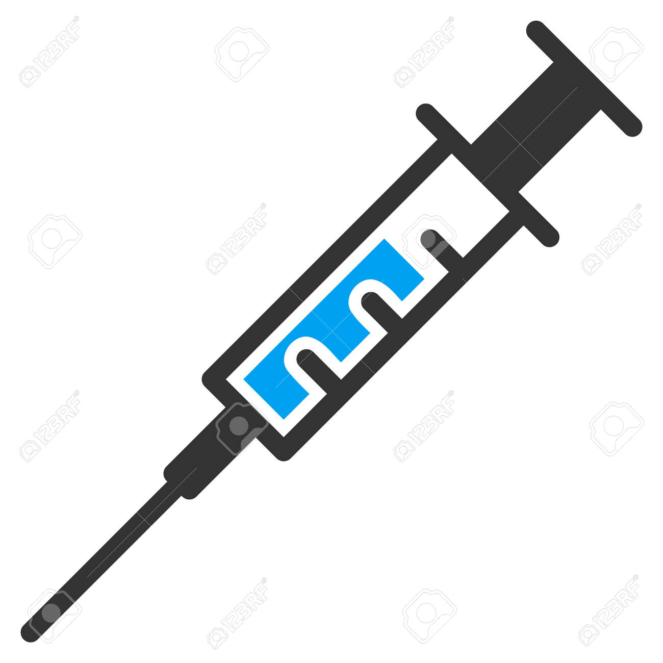 syringe vector icon style is bicolor flat symbol blue and gray rh 123rf com syringe vector image syringe vector image