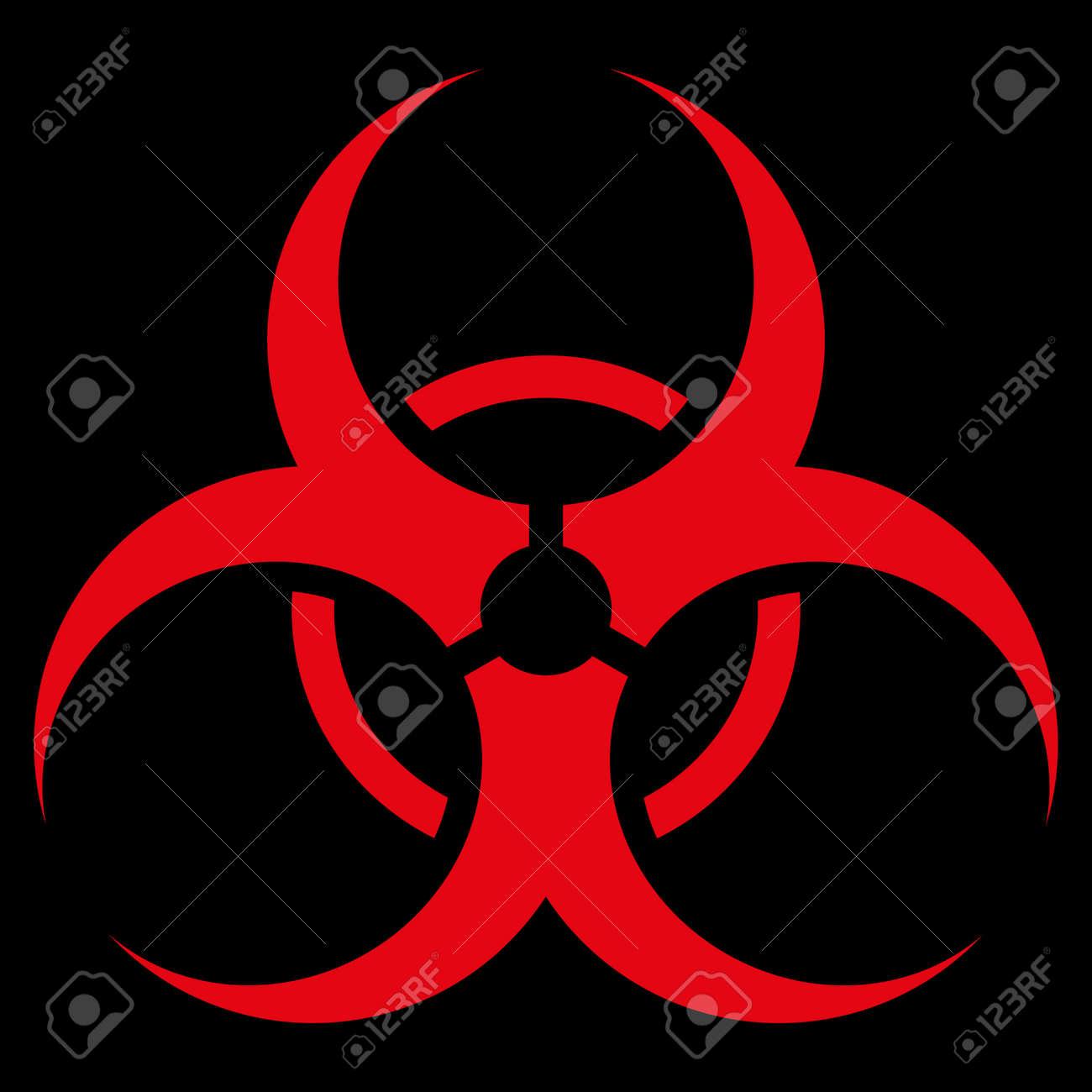 Biohazard symbol raster icon style is flat symbol red color biohazard symbol raster icon style is flat symbol red color rounded angles biocorpaavc Images