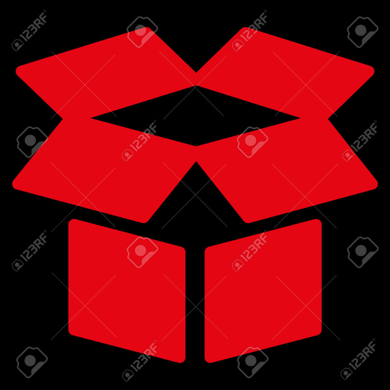 Open box raster icon style is flat symbol red color rounded open box raster icon style is flat symbol red color rounded angles biocorpaavc Choice Image