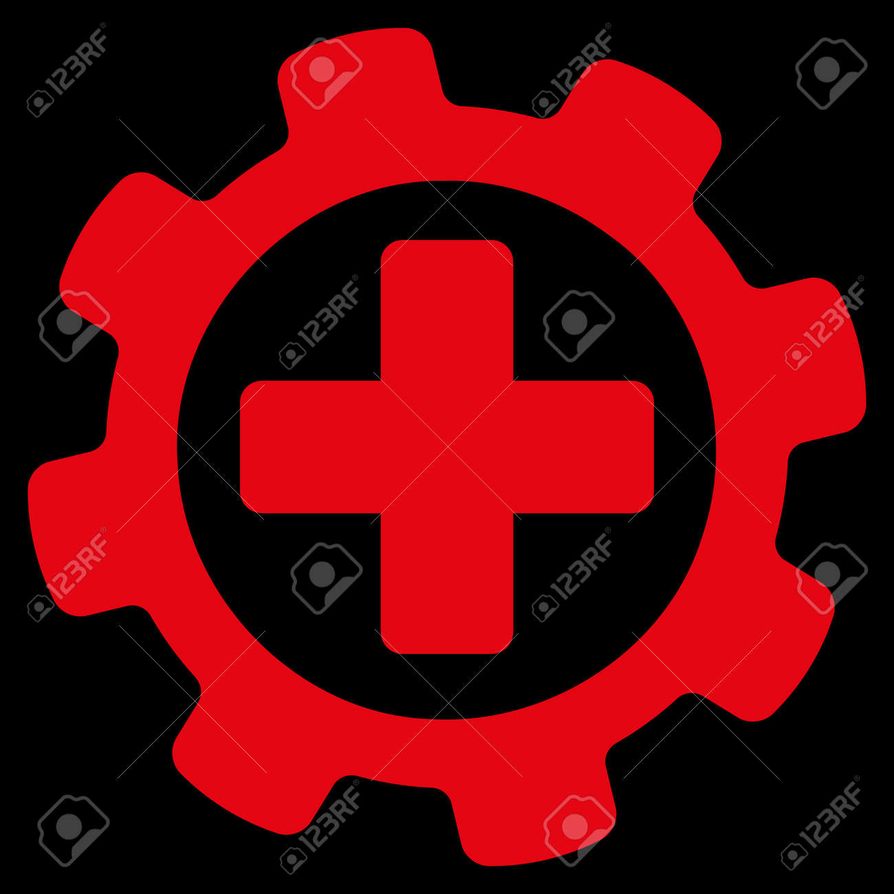 Medical Settings Icon This Flat Raster Symbol Uses Red Color Stock Photo Picture And Royalty Free Image Image 45679694
