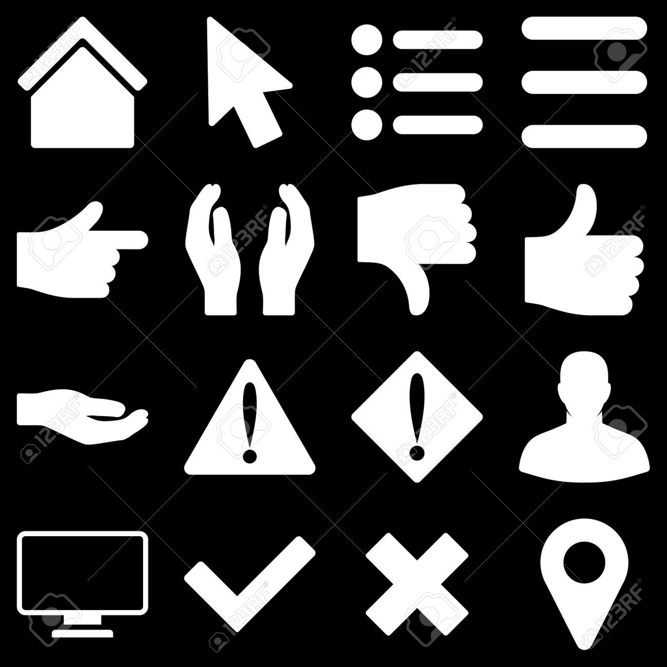 Basic Gesture And Sign Raster Icons These Plain Symbols Use Stock