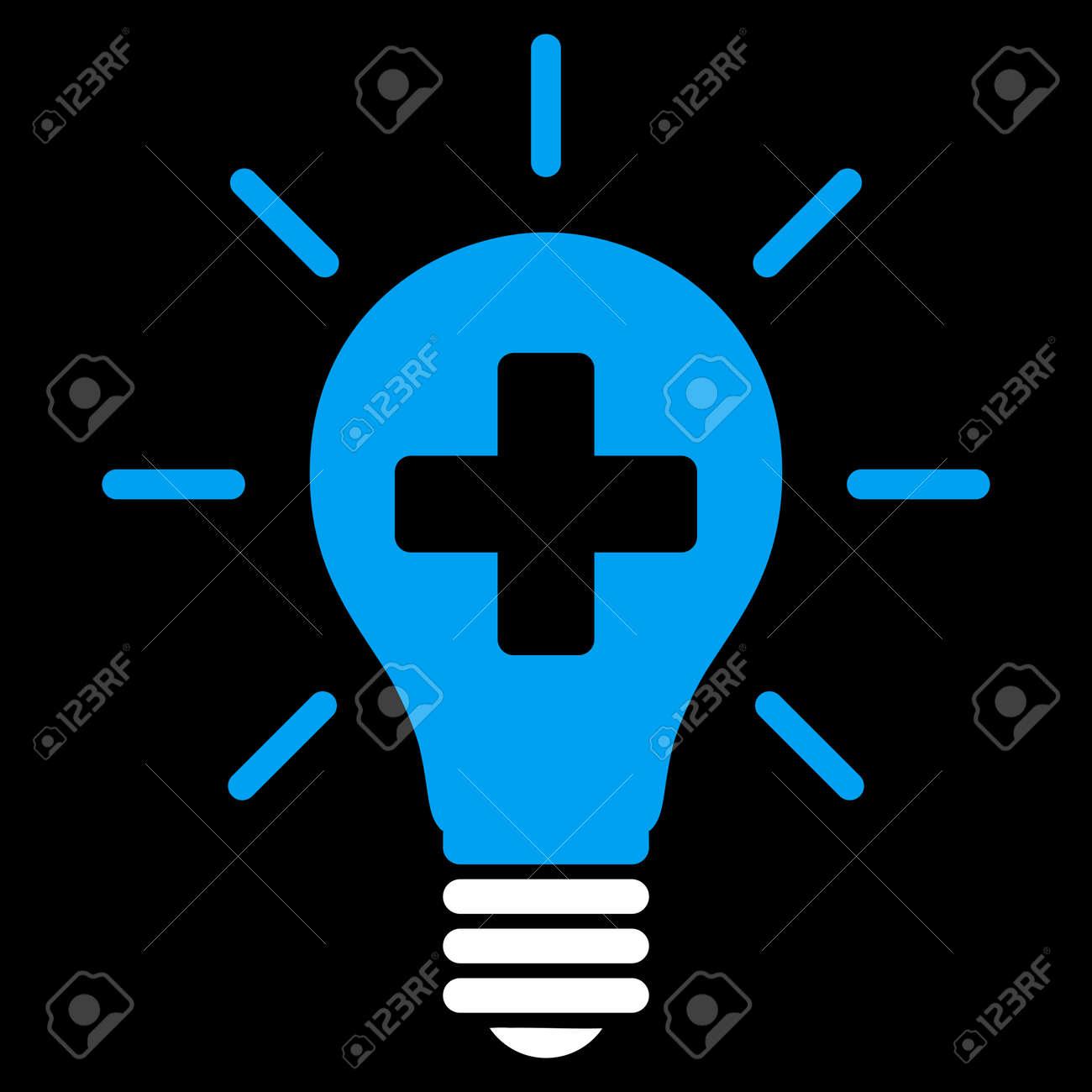 Immagini Stock Medical Lampada Elettrica Icona Raster Lo Stile è