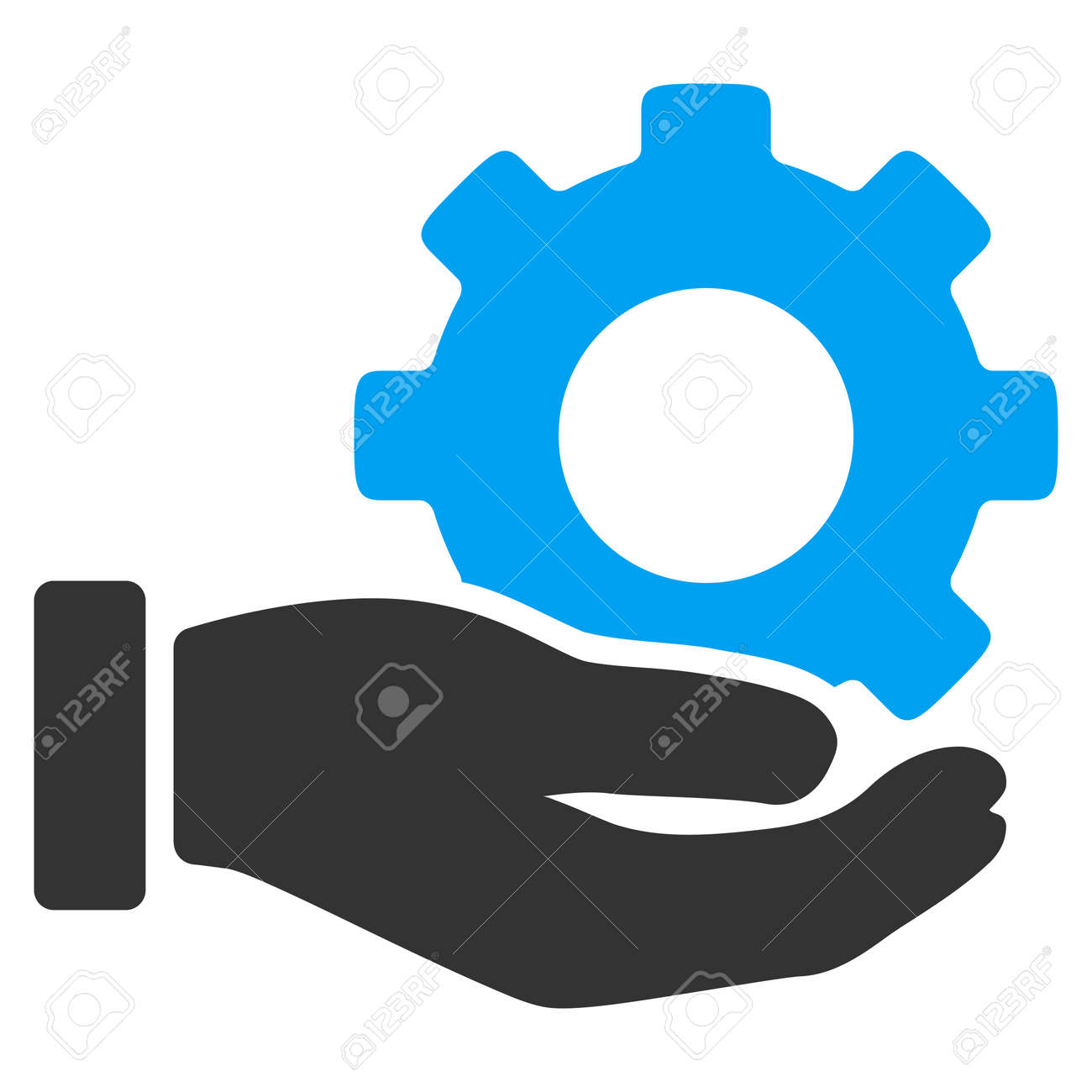 Mechanic Service vector icon. Style is bicolor flat symbol, blue and gray colors, rounded angles, white background. - 45865552