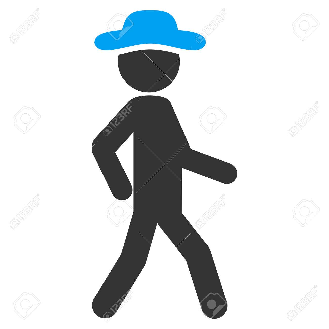 Caminar Icono Trama Boy. El Estilo Es El Símbolo Plana Bicolor ...
