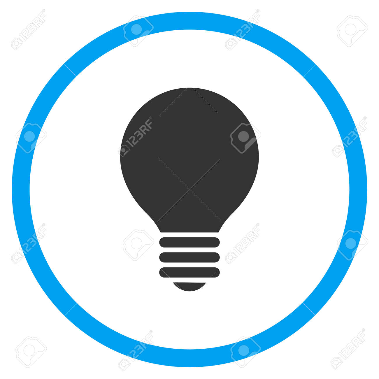 Electrical Bulb Glyph Icon. Style Is Bicolor Flat Circled Symbol ...