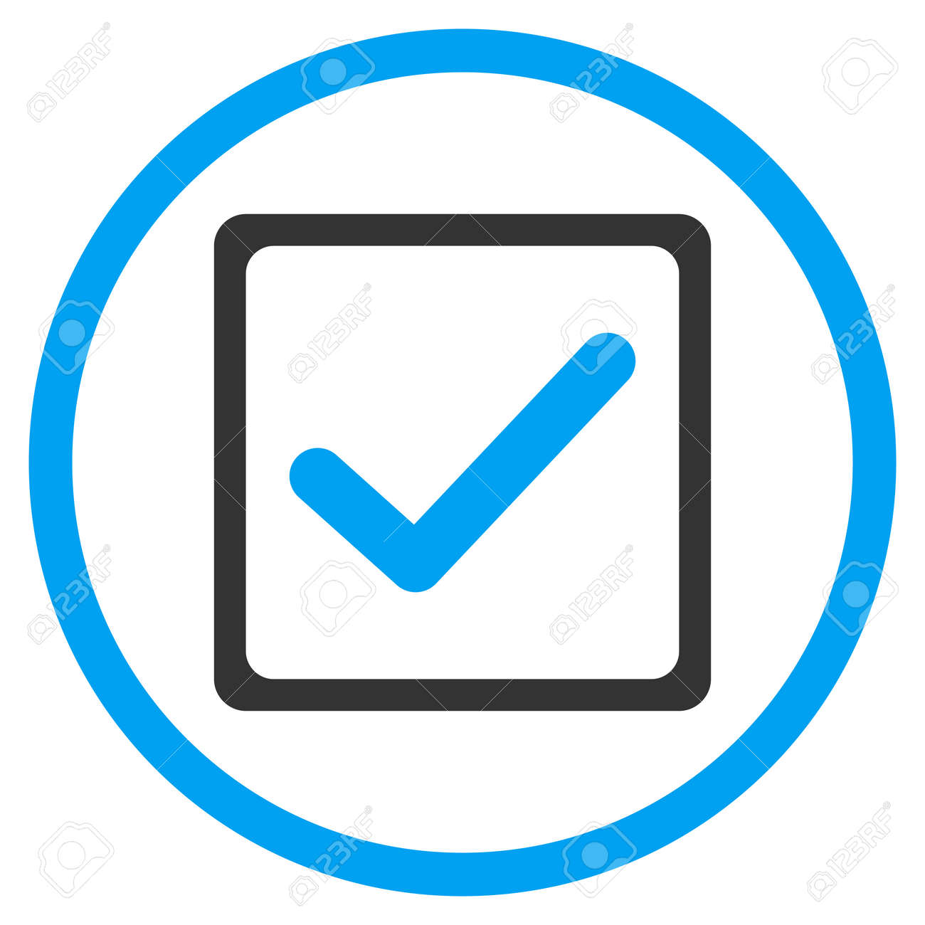 Checkbox vector icon style is bicolor flat symbol blue and checkbox vector icon style is bicolor flat symbol blue and gray colors rounded biocorpaavc Gallery