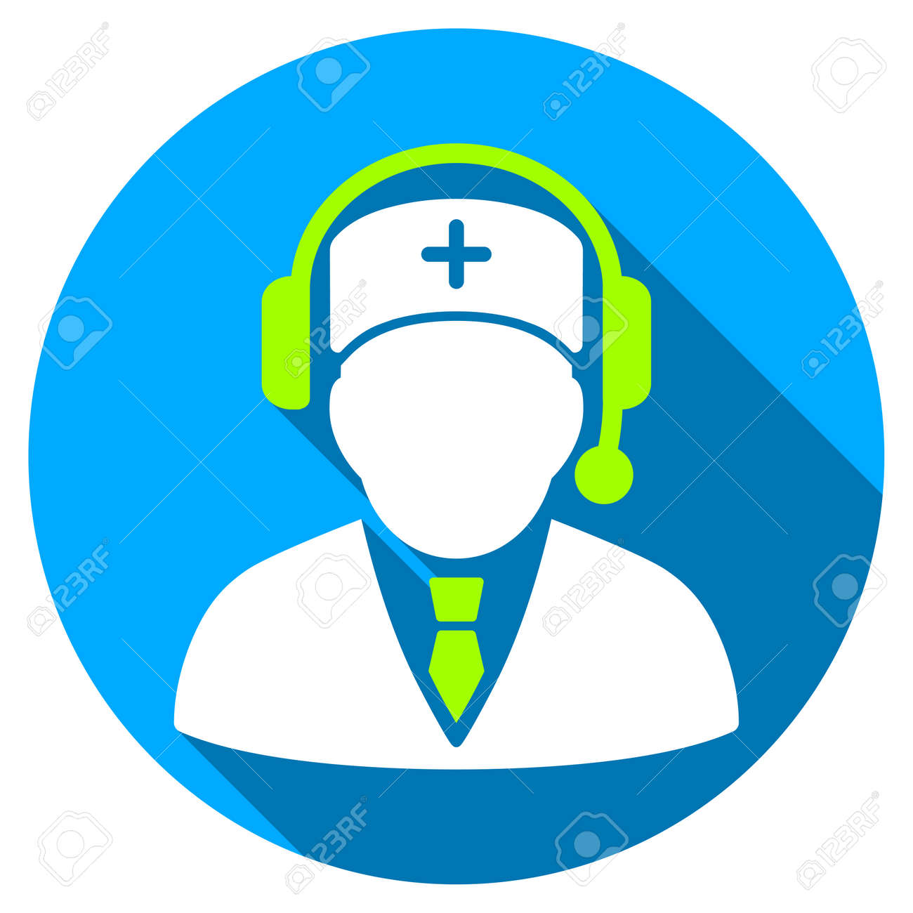 Medical Emergency Manager Long Shadow Icon Style Is A Light Stock