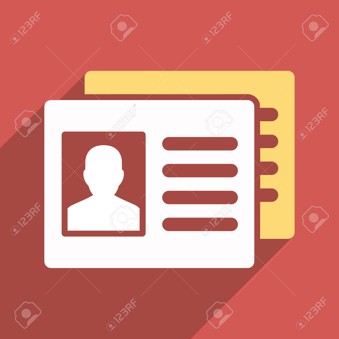 Patient Accounts long shadow vector icon  Style is a flat light