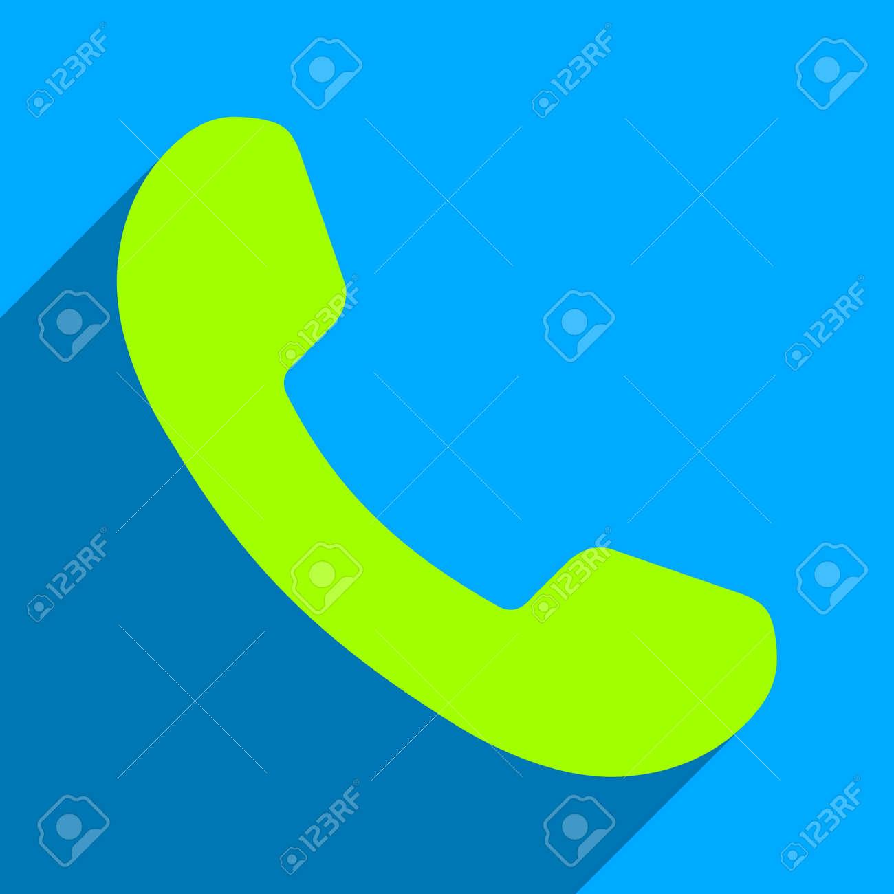 Vettoriale Ricevitore Del Telefono Lunga Ombra Vettore Icona Lo